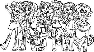 My Little Pony Girls Coloring Page And Pages