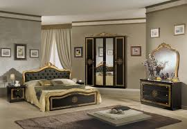 klassisches bett lucia schwarz gold italienisch barock