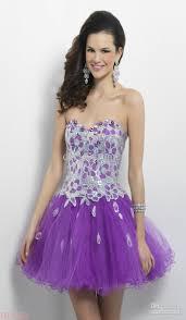 beauty famous a line sweetheart short purple organza lace up