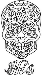 Ornate Skull Colouring In Day Of The Dead