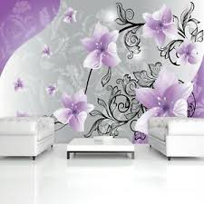 details zu vlies fototapete blumen 3d lila kunst orchidee ornamente schlafzimmer romantisch