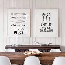 skandinavischen modernen minimalistischen italienische essen sprichwort leinwand malerei dekorative küche wandbild esszimmer