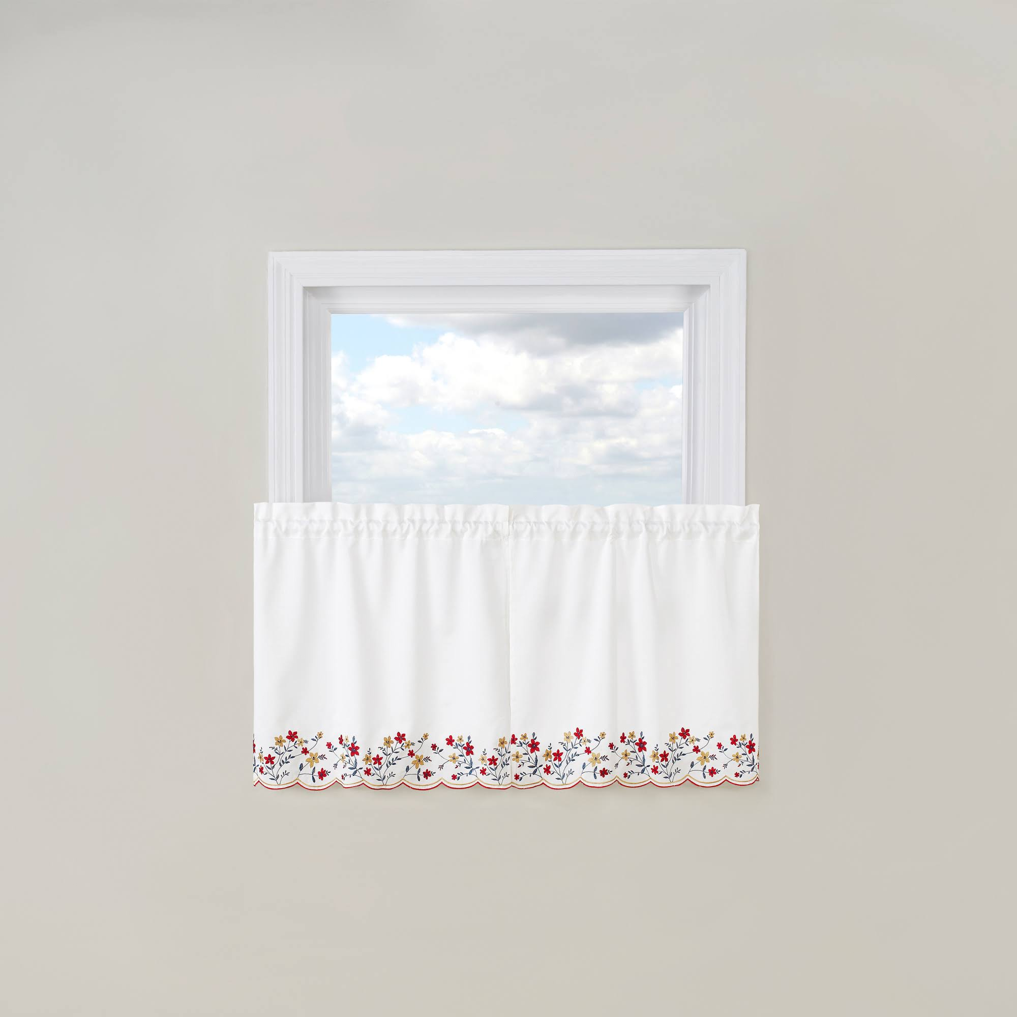 Bloom Embroidered Tier Curtain