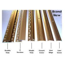wood laminate flooring trim edging metal strip gold