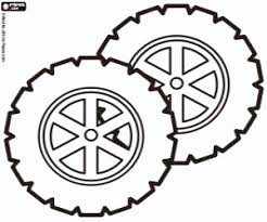 Wheels Safety Car Coloring Page