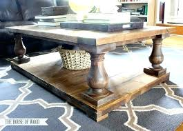 Homemade Wood Coffee Table Awesome Projects Wooden Baluster Plans Rustic Tables