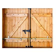 barre securite porte entree barre de sécurité en acier zingué pour volets l 41 cm leroy merlin