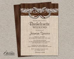 Rustic Country Western Horseshoe Wedding Shower Invitation With Burlap Lace And Twine On Barn Wood