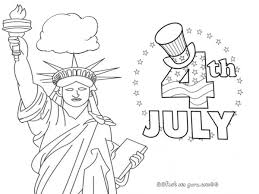 Printable Statue Of Liberty 4th July Coloring Pages