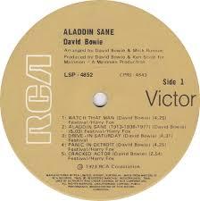 vinyl album david bowie aladdin sane rca victor australia