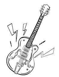 Printable Guitar Coloring Page Free PDF Download At Coloringcafe