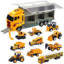 100 Truck Loader 10 Amazoncom Oumoda Transport Car Carrier Toy Diecast