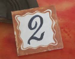 tile house numbers etsy