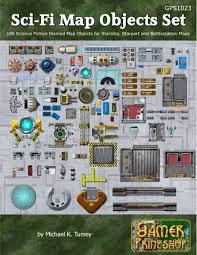 Starship Deck Plan Generator by Sci Fi Map Objects Set Gamer Printshop Photo Map Objects