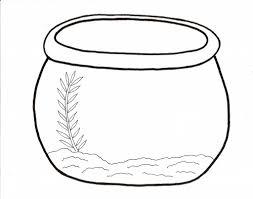 Fish Bowl Coloring Sheet 1375054