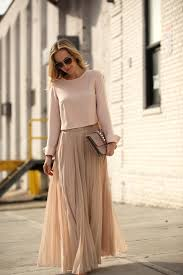 how to look casual chic in maxi skirts blush color waist skirt