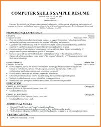 computer skills resume level skills on resume exle okurgezer co