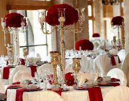 Pictures On Red White Gold Wedding