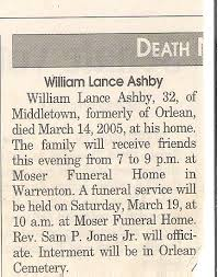 William Lance Ashby 1972 2005 Find A Grave Memorial