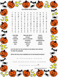 Haunted Halloween Crossword Puzzle Answers by Florassippi Halloween Word Search Free Printable