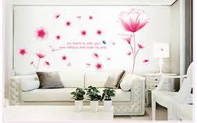 details zu wandtattoo aufkleber deko rosa blumen romantisch wohnzimmer sticker 9184