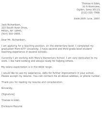 Cover Letter Example For Teachers Faculty Instructor Sample Elementary Teacher