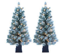 Pre Lit Flocked Artificial Christmas Trees by Flocked Artificial Christmas Tree Ebay