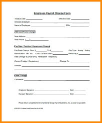 Top Result Payroll Change Form Template Free Elegant Templates Sample Example Format C Constructor