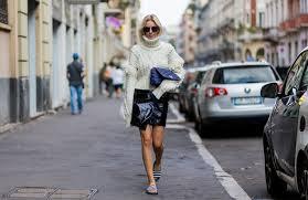 fashion white turtle neck u0026 patent skirt mfw