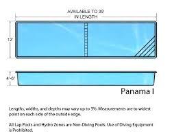 Lap Pool Length Panama Fiberglass Swimming Olympic Size