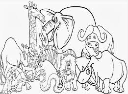 Cute Zoo Animal Coloring Pages Kids