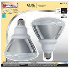 shop utilitech 2 pack 90w equivalent soft white par38 cfl light