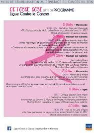programme octobre 2017 ligue contre le cancer