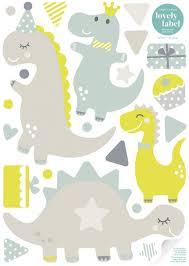 wandbordüre kinderzimmer babyzimmer mit dinosauriern