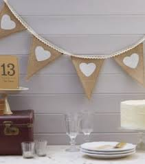 Party Packs Vintage Affair Hessian Lace Bunting