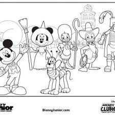 CartoonPictures Of Mickey Mouse Clubhouse Coloring Pages Halloween Party