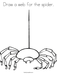 Draw A Web For The Spider Coloring Page