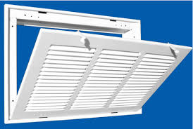 Decorative Return Air Grille 20 X 20 by Hvacquick Truaire 190 Series Stamped Steel Return Air Filter Grilles