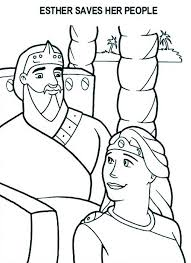 Esther Saves Her People Coloring Pages