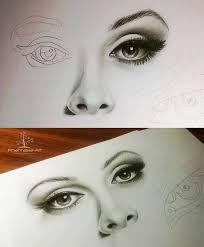 727x881 Eyes Nose And Lips Pencil Drawing Tutorial Como Cuando Quedan