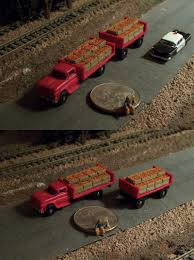 99 N Scale Trucks Other 486 Oranges Produce Farm Truck And Trailer