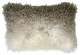 Aviva Aviva Mongolian Fur Pillow Ombre Smolder View in Your