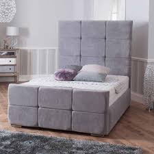 Oslo Super King Bed frame in Chenille Grey