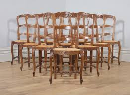Antique Set Of 10 French Louis XV Style Oak Ladder Back Rush Seat Kitchen  Dining Chairs (Circa 1910) Vfuhrerisch Antique Ding Room Table Seats 12 Style Rustic Ladder Back Chairs With Factory Distressed Finish Oak Ding Table And Chairs In Kingsbridge Devon Gumtree Rushseated Kitchen 4 French Rush Shells Tall Stretchers Attractive Set Of 6 Six Vintage Turned Oak Seat Pad Kitchen Forfar Angus 2m Farmhouse 8 Rustic Mk18 Vale Counter Wback Wood Height Countertops Woven Spanish Round Claw Foot Or W4 Leaf Elm 5 Carved Chair Shell Cabriole