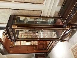 vitrine glas schrank wohnzimmer schaufenster 1türige vitrinen barock rokoko