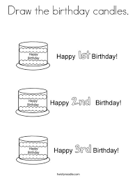 Draw the birthday candles Coloring Page