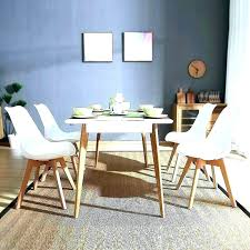 Retro Dining Table Set Room Vintage 4 Chairs