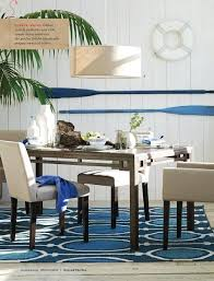 Nautical Dining Rooms In Wonderful Design Winsome Room Decoration With Two Tone Blue Paddle Wall Hanging And White Buoy Also
