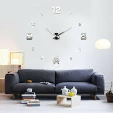 3d design wand uhr wohnzimmer wanduhr spiegel ddelstahl