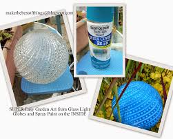 Best Decorating Blogs 2014 by Make The Best Of Things Diy Garden Art Super Easy Glass Garden